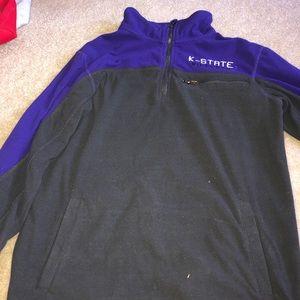k-state grey and purple half zip